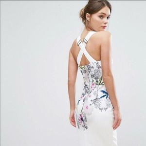 Ted Baker Dresses - Ted Baker floral flowery white dress
